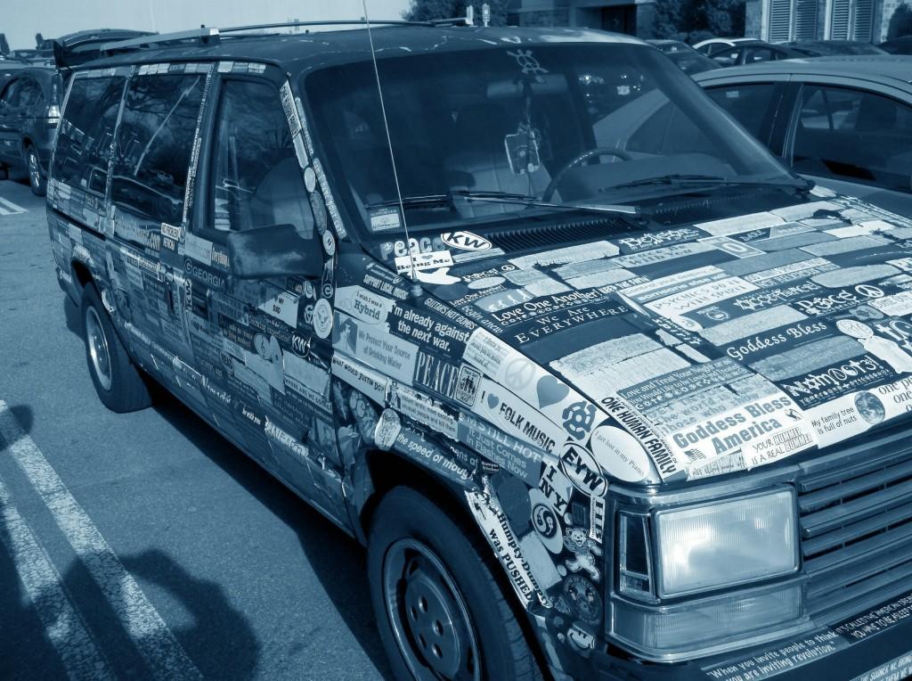 Bumper Stickers - GA - Covered Car