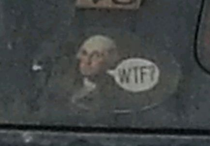 Bumper Sticker - Cooperstown NY - George Washington WTF