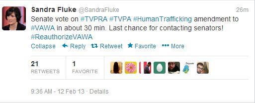 Sandra Fluke VAWA