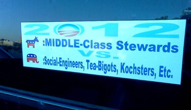 Bumper Sticker - Jacksonville - Democrats v Republicans