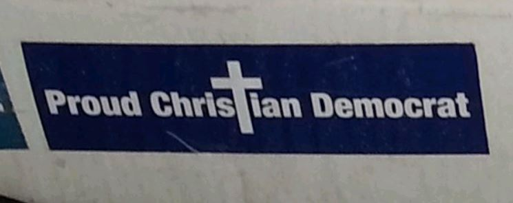 Bumper Stickers - Maryland - Christian Democrat