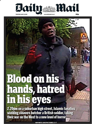 Daily Mail Cover - Machete Terror Attack