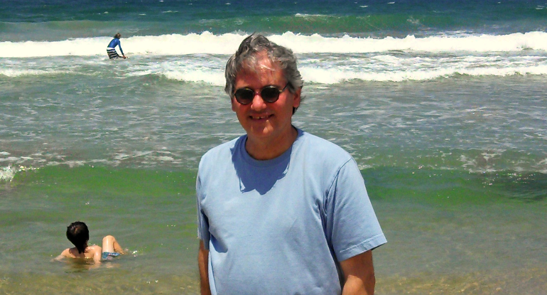 (Me on the beach in Tel Aviv)