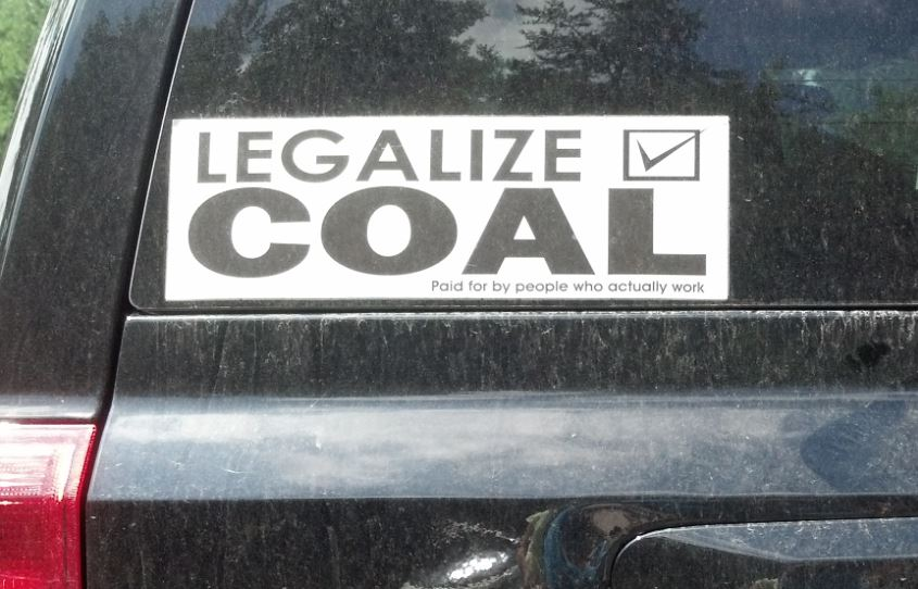 Bumper Sticker - West Virginia - Legalize Coal