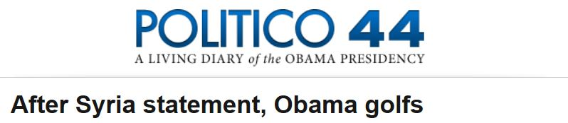 Politico Obama Statement Golf