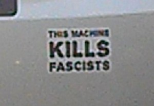 Bumper Sticker - Charlotte NC - Kill Facists