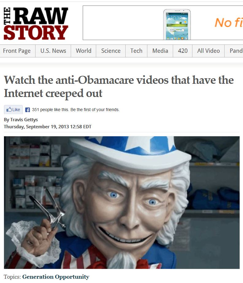Creepy Obamacare Ad - Raw Story