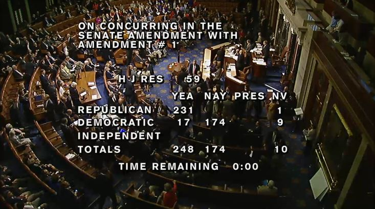 (House Vote Amendment No. 1 Repealing Medical Device Tax)