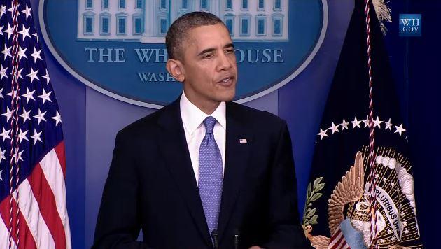 Obama Press Statement Shutdown