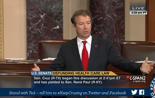 Rand Paul filibuster Obamacare