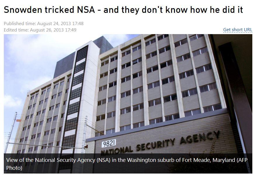 Snowden Tricked NSA