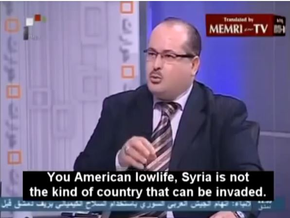 Syrian TV anti Obama 1
