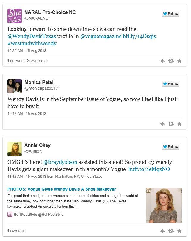 Twitchy Wendy Davis Vogue