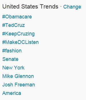 Twitter US Trends 9-25-2013 939 am Eastern