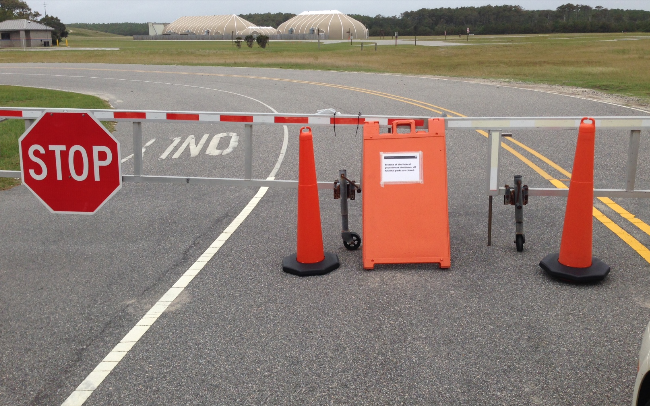 Wright Brothers National Memorial Gate Closed