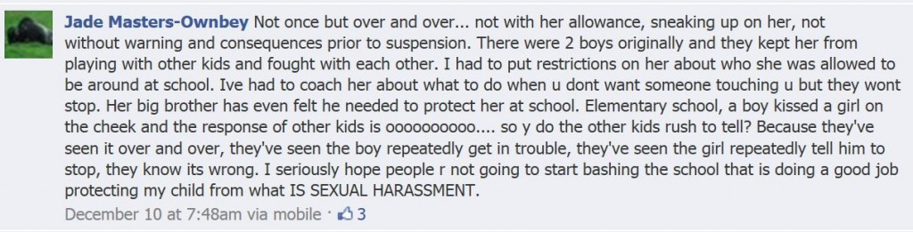 Canon City Mother of Girl Facebook Comment
