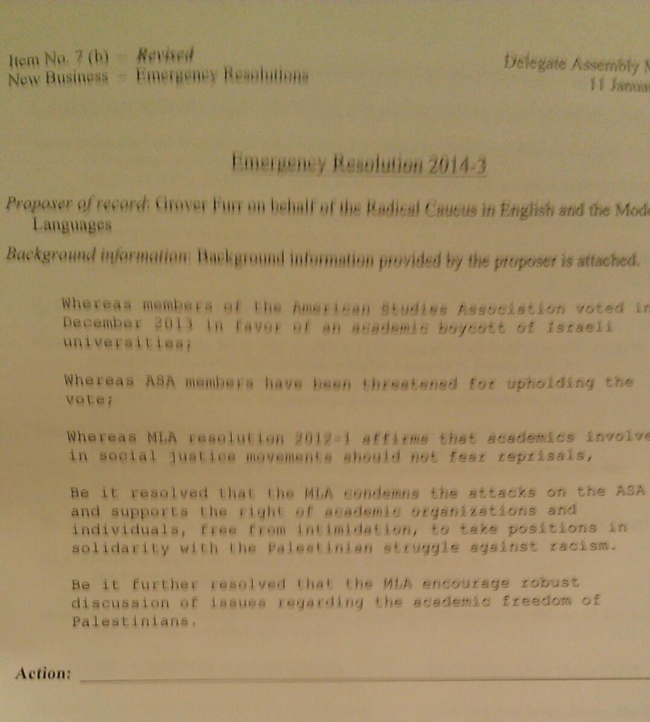 MLA Emergency Resolution