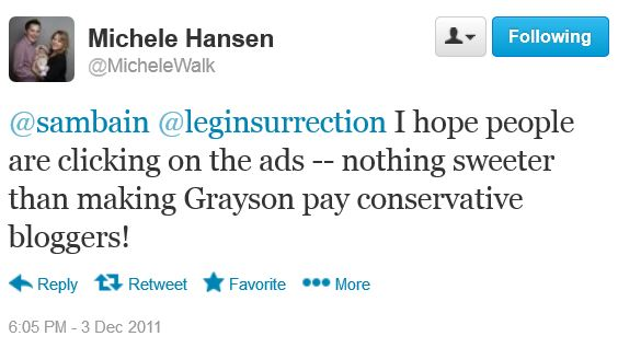 Michele Walk Hansen - Twitter Grayson Legal Insurrection Ad
