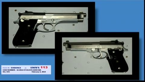 (Michael Dunn's pistol.)