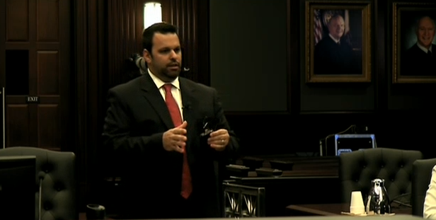(Defense Counsel Cory Strolla.)