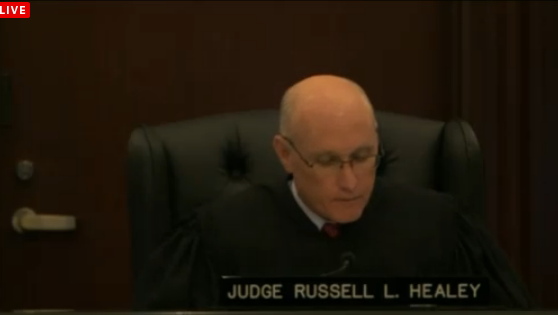 "(Judge Russel Healey denies rejects ""expert"" Abussa.)"
