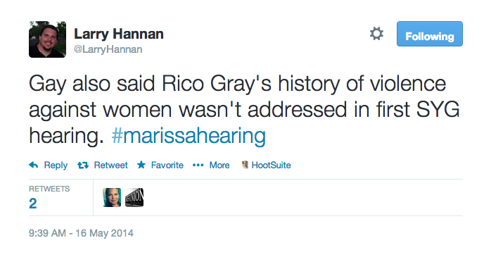 Gay also said Rico Gray's history