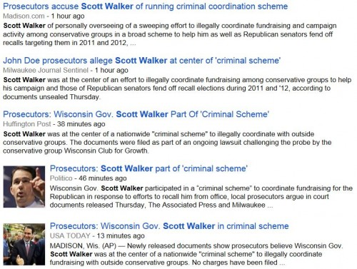 Headlines Scott Walker Accused of criminal scheme