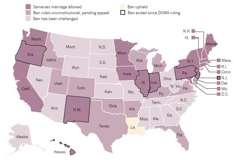 Washington Post Graphic Same Sex Marriage Sept 2014