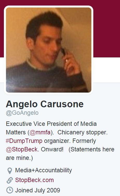 Angelo Carusone Twitter Profile
