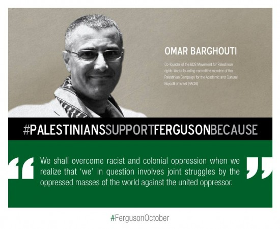 (Omar Barghouti, Co-Founder of BDS Movement, via Tumblr)