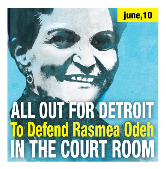 Poster Rasmieh Odeh All Out For Detroit