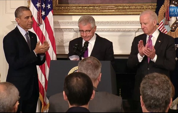 Obama Hagel Biden Resignation