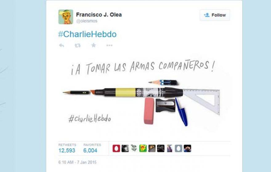 Charlie Hebdo Cartoon Francisco Olea Twitter