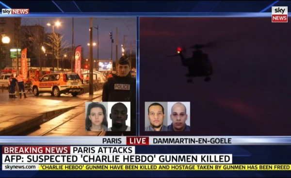 Sky News Charlie Hebdo Gunmen Killed