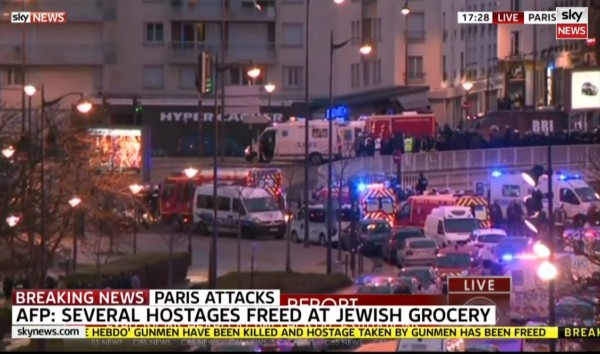 Sky News Hostages Freed Jewish Grocery