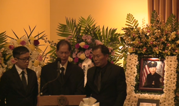 (Father of NYPD Officer Wenjian Liu at Funeral)