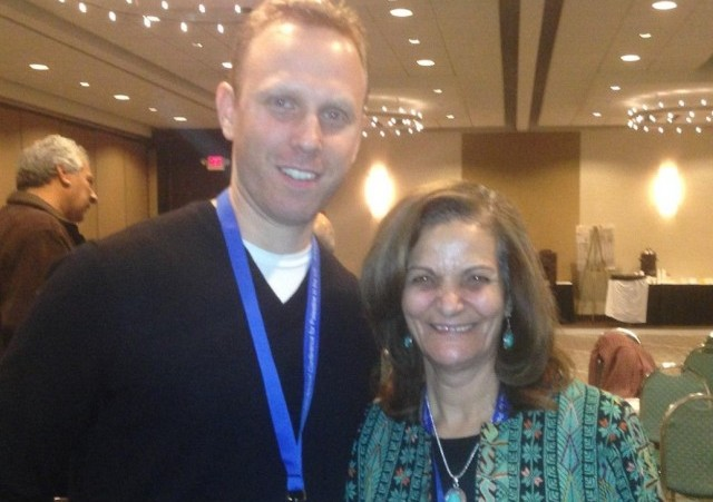 [Max Blumenthal with convicted supermarket bomber Rasmea Odeh]