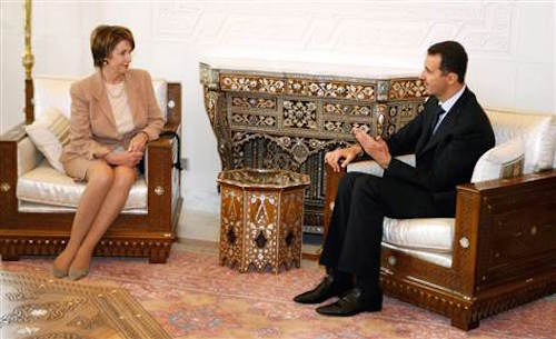 pelosi and assad