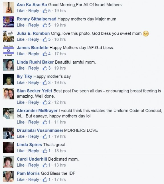Israel Air Force Mothers Day Photo Pilot Breastfeeding Post comments