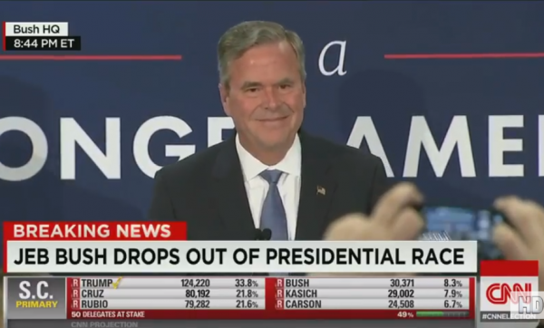 Jeb drops out of race