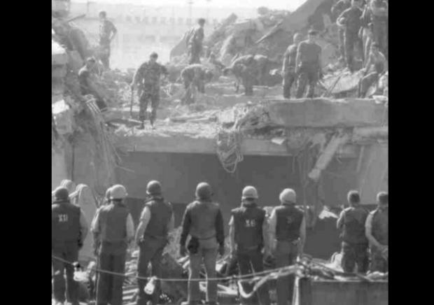https://en.wikipedia.org/wiki/1983_Beirut_barracks_bombings#/media/File:MarineBarracksBeirut_23October1983.jpg