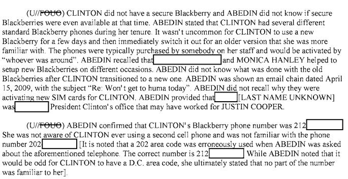 Huma Abedin Hillary BlackBerry