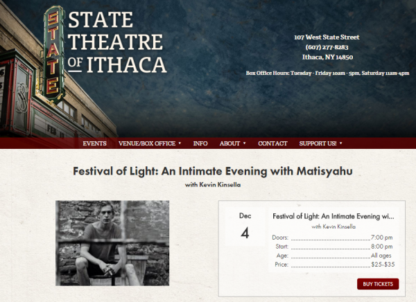 Matisyahu - Ithaca State Street Theater