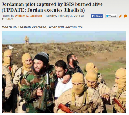 https://legalinsurrection.com/2015/02/reports-jordanian-pilot-captured-by-isis-burned-alive/