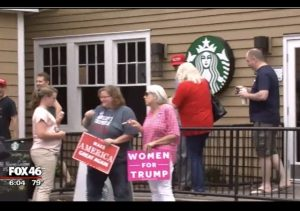 http://myfox8.com/2017/06/25/trump-supporters-stage-sit-in-at-nc-starbucks-after-woman-claims-she-was-mocked-for-wearing-trump-t-shirt/