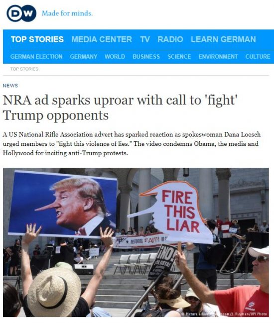 http://www.dw.com/en/nra-ad-sparks-uproar-with-call-to-fight-trump-opponents/a-39501918