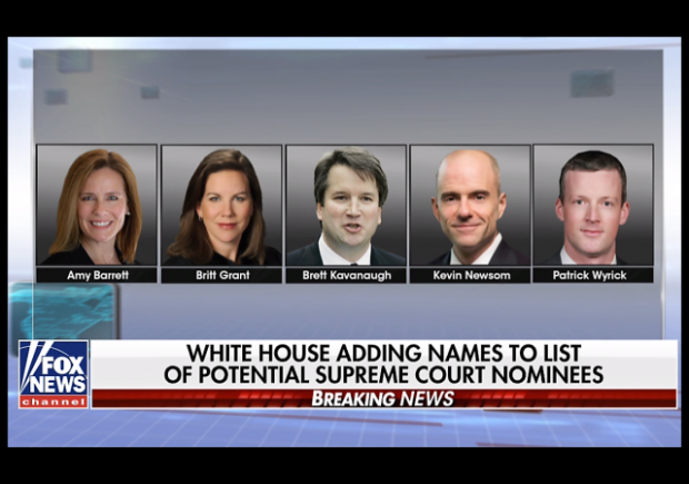 Trump Adds Five to List of Potential Supreme Court Picks