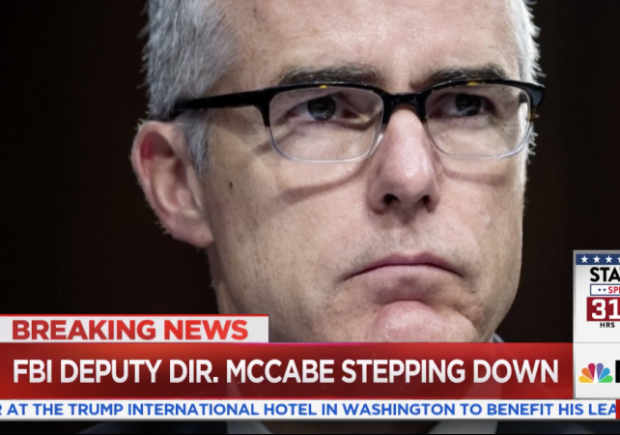 FBI Deputy Director Andrew McCabe steps down amid allegations of political bias