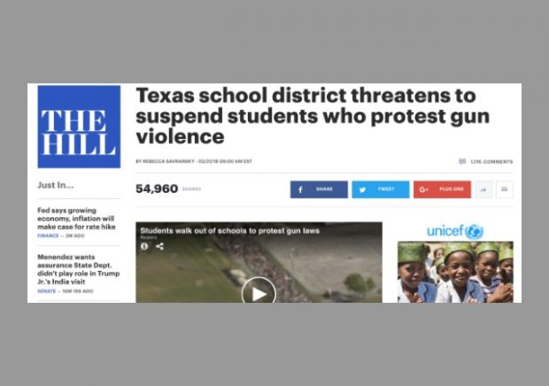 Texas superintendent vows to suspend students who walkout to protest guns