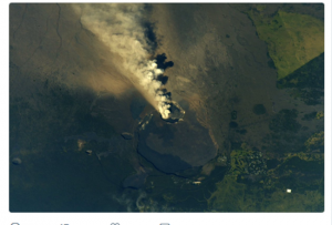From NASA, space station - https://twitter.com/search?f=images&vertical=default&q=%40Space_Station%2C%20kilauea&src=typd